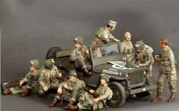 1/35 Resin WWII US Airborne Division on Rest 9 Figures unpainted unassembled 924