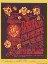Mint Janis Joplin Big Brother Quicksilver 1966 Fd 36 Avalon Poster
