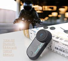 100m BT Bluetooth Motorcycle Helmet Interphone Moto Handsfree Intercom Headset