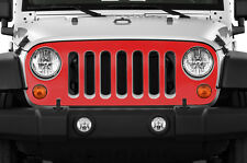 Vinyl Graphics Decal Grille Wrap for Jeep Wrangler Rubicon Grill Skin 07-16 RED