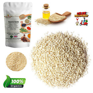 Organic Sesame Seeds Whole White Till HULLED Spices Weight Loss Best Quality P&P