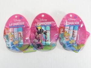 Lip Smacker Princess Lip Balm Lot of 3 Disney Minnie Best Flavor Forever New