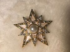 JAY STRONGWATER STAR PIN/ENHANCER PENDANT ; enameling and Crystals goldstone NIB