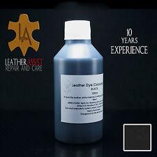 Black Leather Colour Dye Varnish KIA CARENS SPORTAGE SHUMA MK2 Repair 100ml