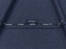 Wool Flannel Fabric Made in Italy Lanificio Zignone-Mélange Blue mtr. 0.5