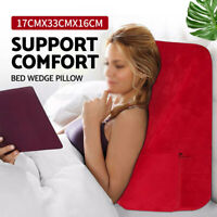 Bedding Wedge Pillow Foam Cushion Neck Back Support Home Washable Soft Red