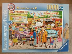 RAVENSBURGER - USED CAR LOT - 1000 PIECE JIGSAW
