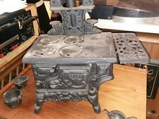 Vintage Toy Cast Iron Crescent Wood Stove so cute!!