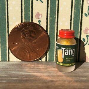 Dollhouse miniatures Beverage 1:12 Jar of Instant Orange Breakfast Drink NEW