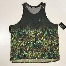 Nike Breathe Men's Rise 365 Printed Running Tank Aq6765-322 Rare Sz 2Xl