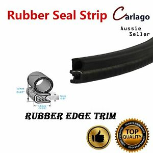 Cars Edge Trim Seal Strip Pinch weld Side Bulb Door Protective Crashproof 3Meter