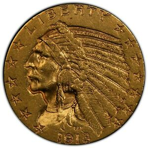 1913 $5 Indian Head GOLD PCGS AU Details *cleaned* TruView Images FREE SHIP ebux