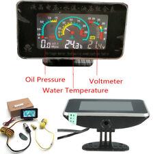 1 STÜCK LCD Digitalanzeige Auto Öldruck Wassertemperaturanzeige Meter Voltmeter