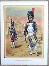 Planche Uniformologique : Tambour des grenadiers de la Garde, par Conrad - 1984