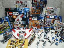 Vtg Star Wars Lego Lot 7915 7914 7869 9488 8083 8084 7931 7929 boxes Figures
