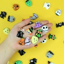 5 Resin Cabochons Halloween Slime Charms Flat Backs Assorted Lot Mixed Themed