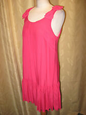 Was LOOK Size 14 Ladies Bow Shoulder Pink Summer Dress