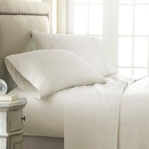 Premium Ultra Soft Checkered Bed Sheet Set by The Home Collection