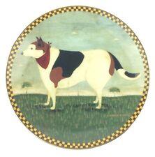 "1994 Lenox Warren Kimble Barnyard Animals Numbered Plate Barnyard Dog 8"""