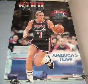 ROLLED 1992 STARLINE POSTERS USA BASKETBALL TEAM LARRY BIRD POSTER CELTICS STAR