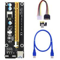 PCI-E 006 Riser Card PCIe 1x to 16x USB 3.0 Datas Cable Bitcoin Mining.