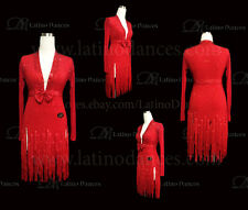 LATINO/SALSA/CHA-CHA-CHA DANCE DRESS  COMPETITION  WITH HIGH QUALITY STONE M445