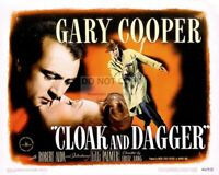 """CLOAK AND DAGGER"" MOVIE POSTER FROM THE FILM (REPRINT) - 11X14 PHOTO (MP-009)"