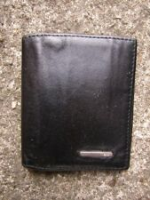 Men's Black Leather Card Wallet