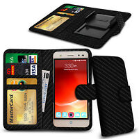 Clip On PU Leather Flip Wallet Book Case Cover For Leagoo Alfa 5