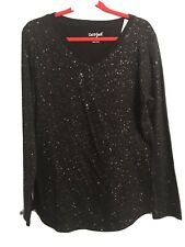Girl's (NWT) Long Sleeve Black Top by Cat & Jack Size Large (10/12)
