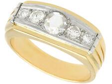 Vintage Diamond and 18k Yellow Gold, 18k White Gold Dress Ring 1950s