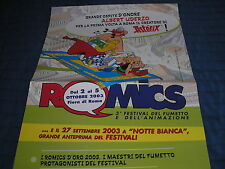 ASTERIX AFFICHE POSTER UDERZO INVITE D'HONNEUR SALON DE LA BD  ROME ROMICS 2003