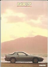 MAZDA RX-7  SPORTS COUPE  SALES BROCHURE 1986