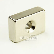 Strong Block Countersunk Magnet 30x 20x 10mm Hole 5mm Rare Earth Neodymium