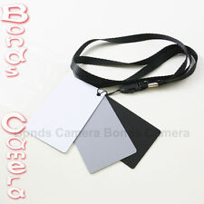 18% Grey Black White Balance Card Set for Nikon Canon Pentax digital SLR camera