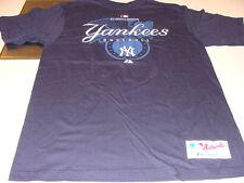New York Yankees MLB Baseball Collection Majestic T Shirt SS Dark Blue Players S