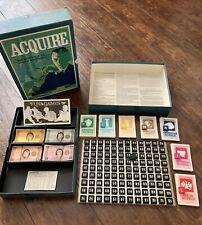 Vtg Acquire Board Bookshelf Game 1968 3M World Adventure High Finance~Complete