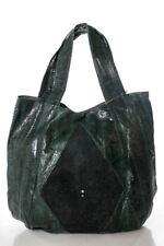 Beirn  Emerald Green Black Watersnake Stingray Jenna Hobo Handbag NWT