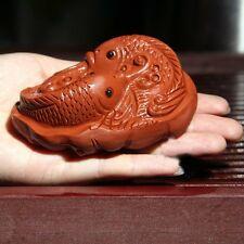 """1pc Yixing Handmade Purple Clay """"Fish"""" Tea Pet Tea Decoration  Qing Shui Ni"""