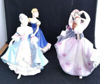 Estate Royal Doulton Pretty Ladies Figurine Lot of 4 Southern Bell, Gabriella +