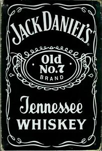 Emaille Blechschild - Jack Daniels - Retro / Nostalgie - 20 x 30cm