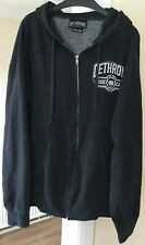 DETHRONE ROYALTY GREY ZIP HOODIE SIZE XL GREAT CONDITION