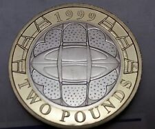 1999 Royal Mint Proof FDC £2 Rugby World Cup Tournament Two Pound Bi Metal FDCUK