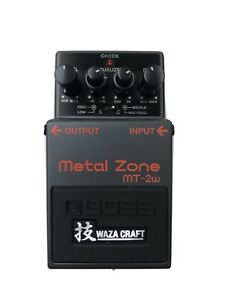 Boss Metal Zone MT-2w WAZA CRAFT Barely Used - Boxed Excellent Condition