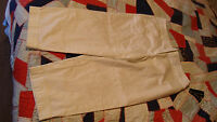 NEW AGB Stretch White Capri Cropped Cuffed Womens 10 NWT  $42