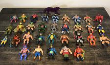 Vintage Mattel MOTU HE-MAN Lot Of 33 Figures
