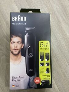 Braun 6-in-1 All-in-one Trimmer 3 MGK3221, Beard Trimmer for Men, Hair Clipper