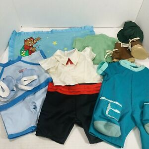 Vintage Teddy Ruxpin Bear Clothes Outfit Shoes Boots Hat Blanket Mixed Lot 1980s