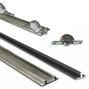 Schiebetürsystem Möbel Einzel-, Doppel-Laufschiene Laufrolle im SET oder Einzeln