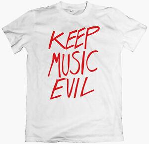 THE FATIMA MANSIONS 'Keep Music Evil' T-shirt, microdisney cathal coughlan